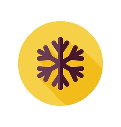 Snowflake Snow flat icon Meteorology Weather vector image
