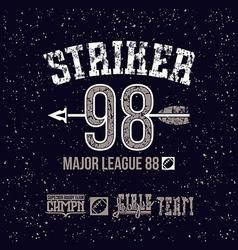 Striker emblem vector