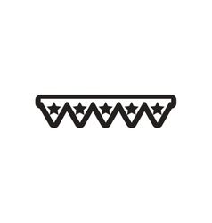 Style black and white icon Garland with stars vector