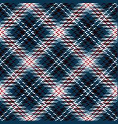 tartan seamless pattern background blue red vector image
