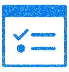 Todo Items Calendar Page Grainy Texture Icon vector
