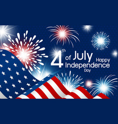 usa 4th july independence day vector image