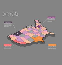 usa map infographics vector image