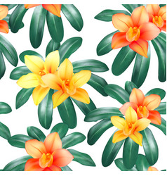 botanical seamless pattern with tropical vector image vector image