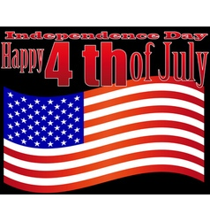 independence day 4 july vector image