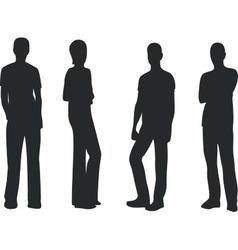 people dancing silhouette 01 vector image
