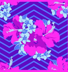 seamless ultraviolet hawaiian tropical pattern vector image vector image