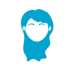 silhouette woman head with closed eyes and vector image vector image