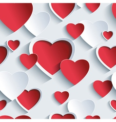 Valentines day seamless pattern with 3d heart vector image vector image