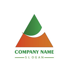 coloring abstract triangle company logo vector image