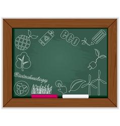 eco blackboard frame vector image vector image