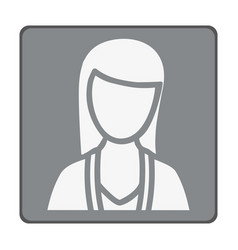 Emblem woman customer icon vector