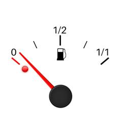 fuel gauge empty tank vector image vector image