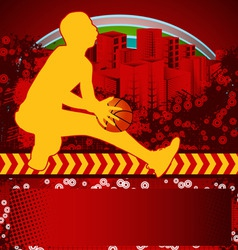 Slamball grunge background vector