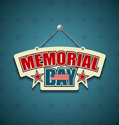 Memorial Day American signs vector image vector image
