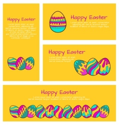 Set of Easter cards and banners vector image