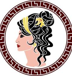 stencil of aristocrat woman vector image vector image