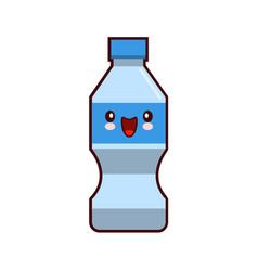 water plastic bottle cartoon kawaii character vector image
