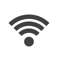 Wifi icon in flat style vector image vector image