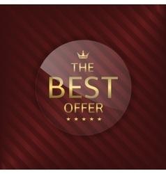Best offer glass label vector image