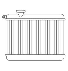 Car radiator vector