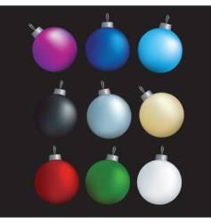 decorative balls vector image vector image