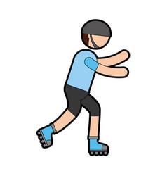 ethlete practicing skate avatar vector image vector image