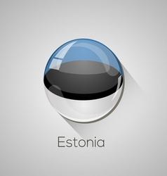 European flags set - Estonia vector image vector image
