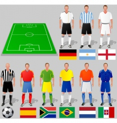 fifa world cup group a vector image vector image