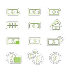 money icon duoton vector image