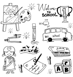 School education object doodles vector image vector image