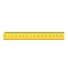 15 cm wood ruler icon realistic style vector image