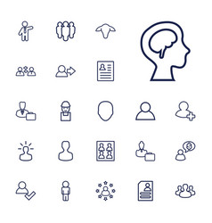 22 profile icons vector