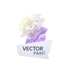 Abstract digital watercolor ink virtual technology vector