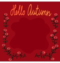 Autumn square fram vector