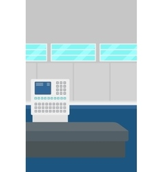 Background of airport with self check-in kiosk vector