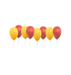 balloons set in yellow and red colors vector image