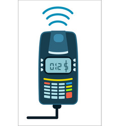 Bank card payment concept with pos terminal vector
