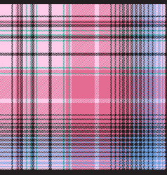 Blue pink abctract check plaid seamless pattern vector