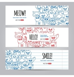 Cats banners template vector
