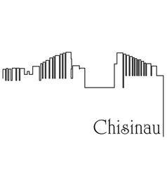 Chisinau city one line drawing background vector