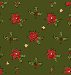 Christmass patch logo gift mistletoe seamless vector