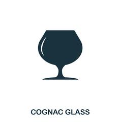 cognac glass icon line style icon design ui vector image