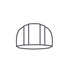 construction symbol helmet thin line icon linear vector image