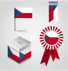 czech republic country flag place on vote box vector image