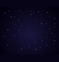Dark night sky with stars sparkle background vector