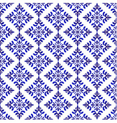 decorative blue and white pattern vector image