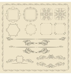 Decorative design elements set vector image