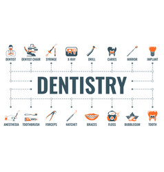 Dentistry and stomatology banner vector