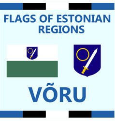 Flag of estonian region voru vector